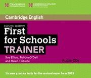 Libro FIRSTS FOR SCHOOLS TRAINER SECOND EDITION AUDIO CDS