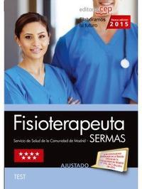 Libro FISIOTERAPEUTA. SERVICIO DE SALUD DE LA COMUNIDAD DE MADRID. TEST