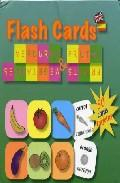 Libro FLASH CARDS FRUITS AND VEGETABLES