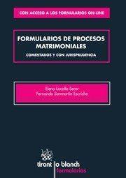 Libro FORMULARIOS DE PROCESOS MATRIMONIALES COMENTADOS Y CON JURISPRUDE NCIA