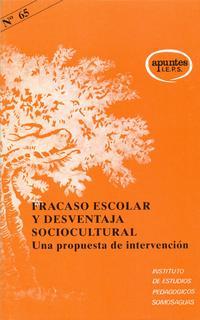 Libro FRACASO ESCOLAR Y DESVENTAJA SOCIOCULTURAL: UNA PROPUESTA DE INTE RVENCION