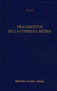 Libro FRAGMENTOS DE LA COMEDIA MEDIA