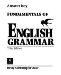 Libro FUNDAMENTALS OF ENGLISH GRAMMAR, WITHOUT ANSWER KEY ANSWER KEY