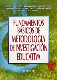 Libro FUNDAMENTOS BASICOS DE METODOLOGIA DE INVESTIGACION EDUCATIVA