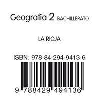 Libro GEOGRAFIA + GEOGRAFIA LA RIOJA  2BTO ED 2009