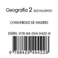Libro GEOGRAFIA CAST + CUADERNO GEOGRAFIA MADRID 2º BACHILLERATO