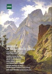 Libro GEOGRAFIA DE LOS PAISAJES DE ESPAÑA