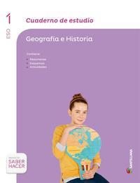 Libro GEOGRAFIA E HISTORIA 1º ESO CUADERNO ESTUDIO ED 2015