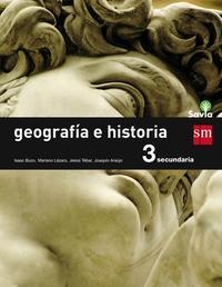 Libro GEOGRAFIA E HISTORIA 3º ESO SAVIA CANTABRIA/ PAIS VASCO/ NAVARRA/ LA  RIOJA/ MADRID/ CASTILLA LA MANCHA. ED 2015