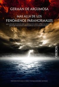 Libro GERMAN DE ARGUMOSA: MAS ALLA DE LOS FENOMENOS PARANORMALES