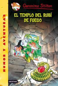 Libro GERONIMO STILTON 48: EL TEMPLO DEL RUBI DE FUEGO