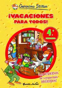 Libro GERONIMO STILTON: ¡VACACIONES PARA TODOS! 4