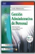 Libro GESTION ADMINISTRATIVA DE PERSONAL