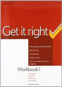 Libro GET IT RIGHT 1 WB SPANISH ED