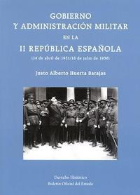 Libro GOBIERNO Y ADMINISTRACION MILITAR EN LA II REPUBLICA ESPAÑOLA