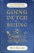 Libro GOING DUTCH IN BEIJING