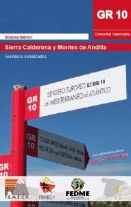 Libro GR10 SIERRA CALDERONA Y MONTES DE ANDILLA