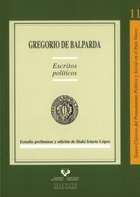 Libro GREGORIO DE BALPARDA. ESCRITOS POLITICOS