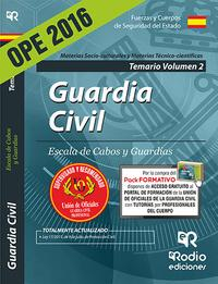 Libro GUARDIA CIVIL. ESCALA DE CABOS Y GUARDIAS. TEMARIO VOLUMEN 2
