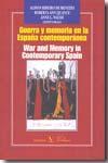 Libro GUERRA Y MEMORIA EN LA ESPAÑA CONTEMPORANEA