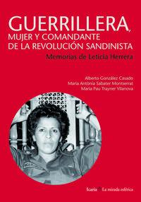 Libro GUERRILLERA, MUJER Y COMANDANTE DE LA REVOLUCION SANDINISTA
