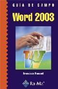Libro GUIA DE CAMPO DE WORD 2003