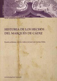 Libro HISTORIA DE LOS HECHOS DEL MARQUES DE CADIZ