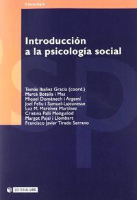 Libro INTRODUCCION A LA PSICOLOGIA SOCIAL