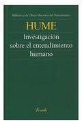 Libro INVESTIGACION SOBRE EL ENTENDIMIENTO HUMANO