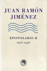 Libro JUAN RAMON JIMENEZ. EPISTOLARIO II, 1916-1936