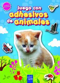 Libro JUEGA CON ADHESIVOS DE ANIMALES. AZUL