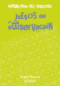Libro JUEGOS DE OBSERVACION