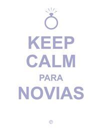 Libro KEEP CALM, PARA NOVIAS