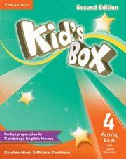 Libro KID S BOX LEVEL 4 ACTIVITY BOOK WITH ONLINE RESOURCES