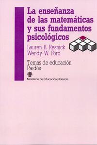 Libro LA ENSEÑANZA DE LAS MATEMATICAS Y SUS FUNDAMENTOS PSICOLOGICOS