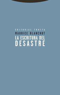 Libro LA ESCRITURA DEL DESASTRE