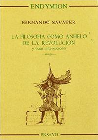 Libro LA FILOSOFIA COMO ANHELO DE LA REVOLUCION