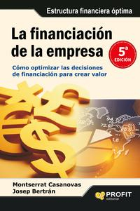 Libro LA FINANCIACION DE LA EMPRESA
