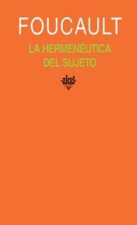 Libro LA HERMENEUTICA DEL SUJETO