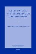 Libro LA LEY NATURAL Y SU INTERPRETACION CONTEMPORANEA