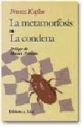 Libro LA METAMORFOSIS; LA CONDENA