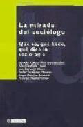 Libro LA MIRADA DEL SOCIOLOGO