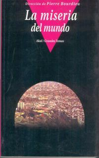 Libro LA MISERIA DEL MUNDO