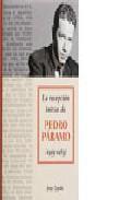 Libro LA RECEPCION INICIAL DE PEDRO PARAMO