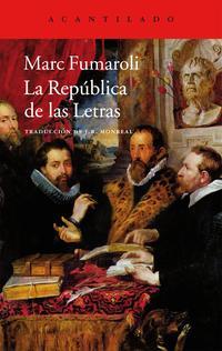 Libro LA REPUBLICA DE LAS LETRAS