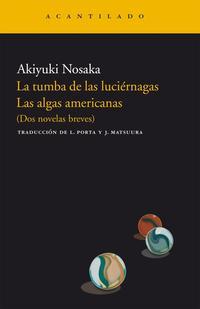 Libro LA TUMBA DE LAS LUCIERNAGAS
