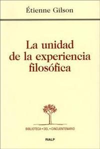 Libro LA UNIDAD DE LA EXPERIENCIA FILOSOFICA
