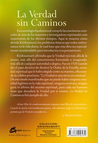 Libro LA VERDAD SIN CAMINOS: ANTOLOGIA FUNDAMENTAL DE ENSEÑANZAS