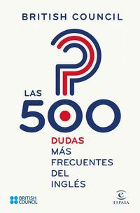 Libro LAS 500 DUDAS MÁS FRECUENTES DEL INGLÉS