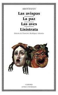 Libro LAS AVISPAS; LA PAZ; LAS AVES; LISISTRATA